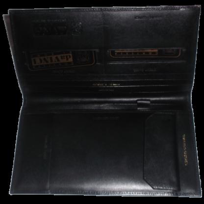 Contessa da Vinci Di Roma Leather Wallet Black OPen