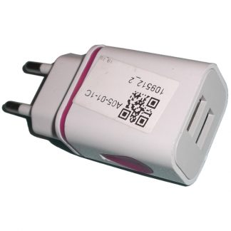 BBC8 Purple Dual Usb Travel USB 2 Ports Charger EU Plug LED
